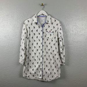 Tommy Hilfiger Size M Flannel Pajama Shirt